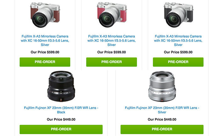 New Fuji X A3 And The 23mm XF Announced