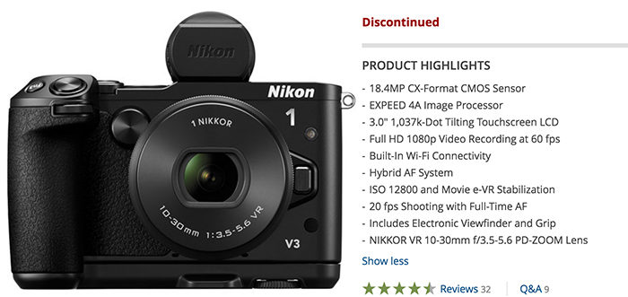 Nikon is slowly killing it\'s Nikon 1 line - mirrorlessrumors