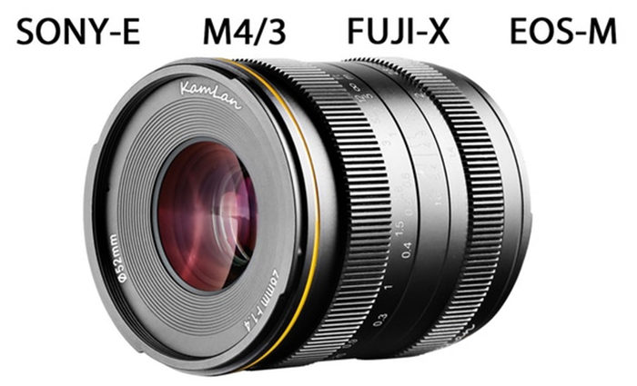 First image of the new Kamlan 28mm f/1 4 lens for Sony-Canon
