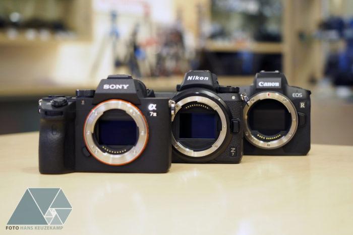 The big size comparison: Sony A7III vs Nikon Z6 vs Canon EOS
